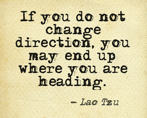 change direction
